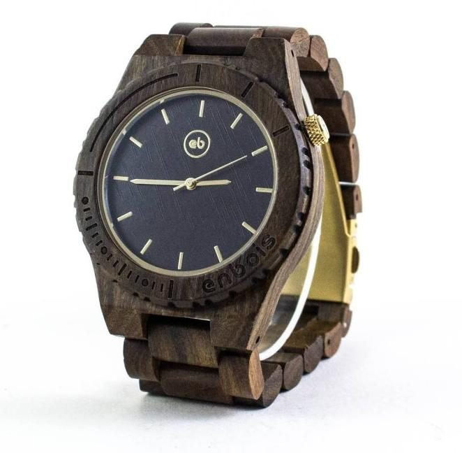 Wooden black owned watch maker