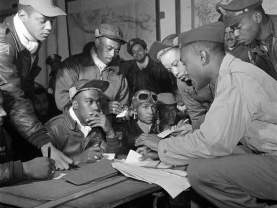 Tuskegee Airmen Roscoe Brown flies west